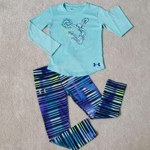 Under Armour girl pants/shirt set